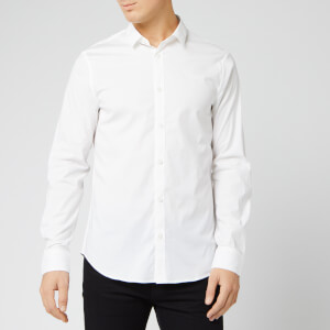 Armani Exchange Men's Small Logo Long Sleeve Shirt - White