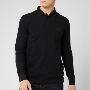 Armani Exchange Men's Long Sleeve Polo Shirt - Black