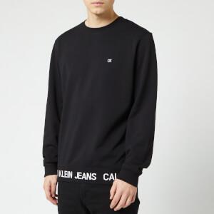 Calvin Klein Jeans Men's Logo Waistband Sweatshirt - CK Black