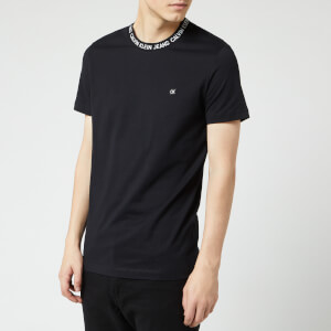 Calvin Klein Jeans Men's Logo Neck Rib T-Shirt - CK Black