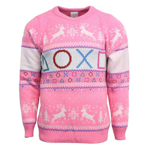 PlayStation Official Pink Knitted Christmas Jumper