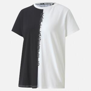 Puma X Karl Lagerfeld Women's Short Sleeve Open Back T-Shirt - Puma Black