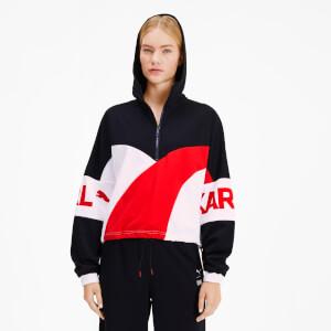 Puma X Karl Lagerfeld Women's XTG Half Zip Hooded Jacket - Puma Black