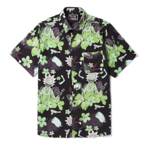 Rick and Morty Floral overhemd