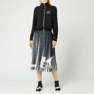 Karl Lagerfeld Women's X Olivia Palermo Rue St. Guillaume Pleated Dress - Black