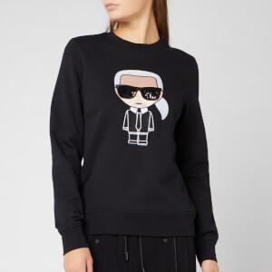Karl Lagerfeld Women's Ikonik Karl Sweatshirt - Black