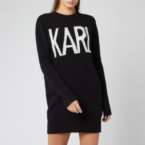 Karl Lagerfeld Women's Karl Oui Sweater Dress - Black