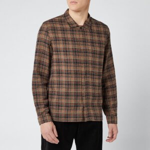 Folk Men's Patch Shirt - Brown Multi Check