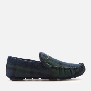Barbour Men's Monty Suede Moccasin Slippers - Black Watch Tartan
