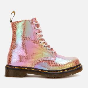 Dr. Martens Women's 1460 Iridescent Pascal 8-Eye Boots - Pink