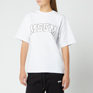 MSGM Women's Large Logo T-Shirt - Optical White