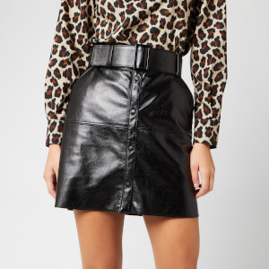 MSGM Women's Mini Button Up Skirt - Black
