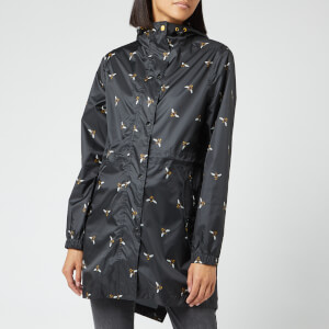 Joules Women's Golightly Bees Waterproof Packaway Coat - Black