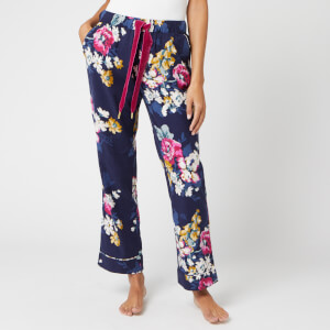 Joules Women's Snooze Floral Pyjama Bottoms - Navy