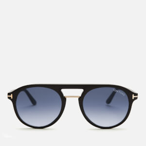 Tom Ford Men's Ivan Sunglasses - Shiny Black/Gradient Blue