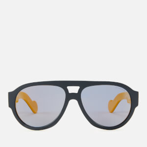 Moncler Men's Acetate Sunglasses - Blue/Smoke Polarized