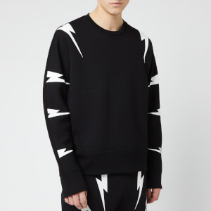 Neil Barrett Men's Tiger Bolt Sweatshirt - Black/White