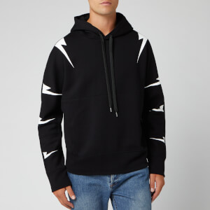 Neil Barrett Men's Tiger Bolt Hoody - Black/White