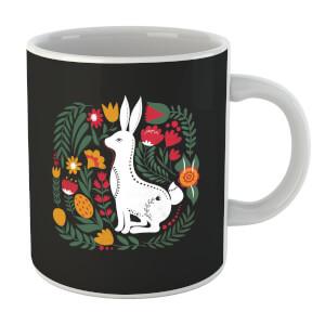 Scandi Rabbit Pattern Mug
