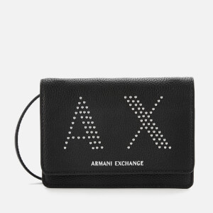 Armani Exchange Women's Kendall Studs Cross Body Bag - Black