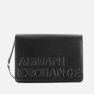Armani Exchange Women's Maddie Debossed Shoulder Bag - Black