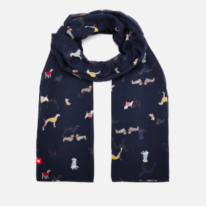 Joules Women's Wensley Dogs Print Scarf - Navy