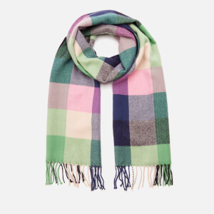 Joules Women's Bracken Check Scarf - Dark Pink Check