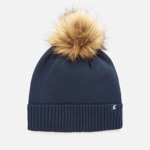 Joules Women's Snowday Pom Hat - French Navy