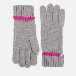 Joules Women's Snowday Gloves - Charcoal