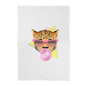 Bubblegum Leo Cotton Tea Towel