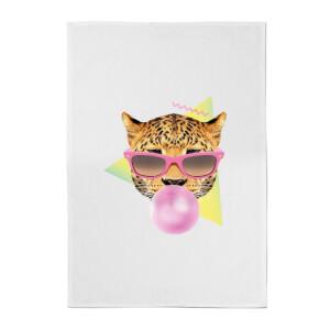 Bubblegum Leo Cotton Tea Towel