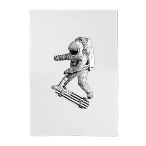 Kickflip In Space Cotton Tea Towel
