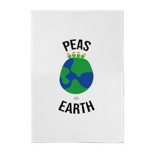 Peas On Earth Cotton Tea Towel