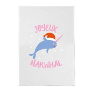 Joyeux Narwhal Cotton Tea Towel