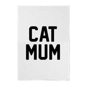 Cat Mum Cotton Tea Towel