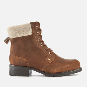 Clarks Women's Orinoco Dusk Warmlined Leather Lace Up Boots - Tan
