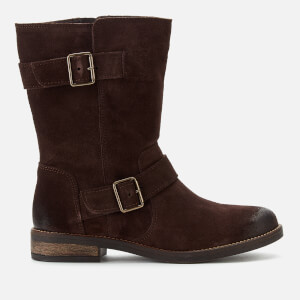 Clarks Women's Demi Flow Biker Boots - Dark Brown