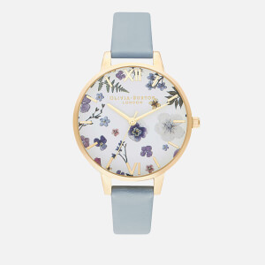 Olivia Burton Women's Artisan (Series 2) Watch - Vegan Chalk Blue & Pale Gold
