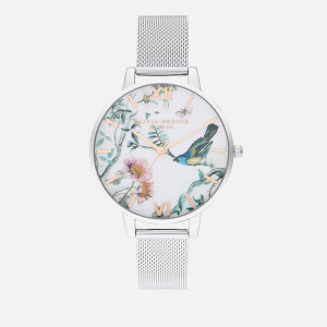 Olivia Burton Women's Painterly Prints Watch - Rose Gold & Silver Mesh