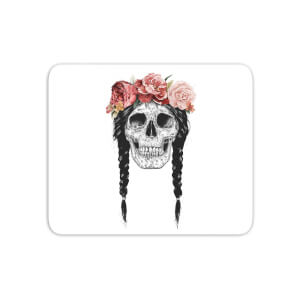 Skull And Flowers Mouse Mat