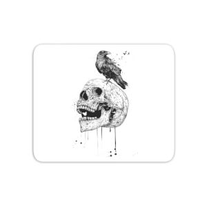 Skull And Crow Mouse Mat