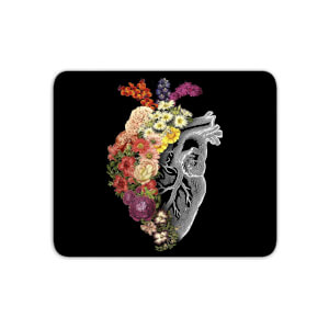 Flower Heart Spring Mouse Mat