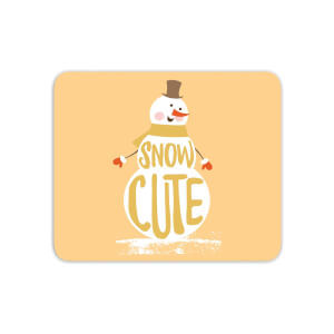 Christmas Snow Cute Snowman Mouse Mat