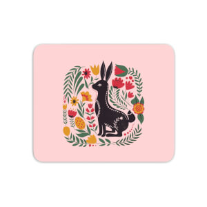 Scandi Rabbit Pattern Mouse Mat
