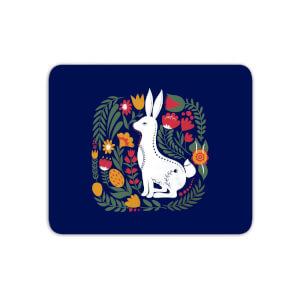 Scandi Rabbit Pattern Mouse Mat