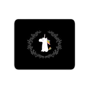 Unicorn Crest - Baby Pink Mouse Mat