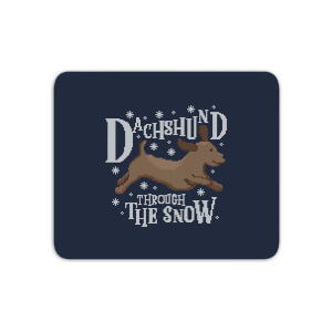 Dachshund Through The Snow Mouse Mat