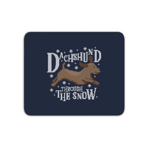 Dachshund Through The Snow Mouse Mat