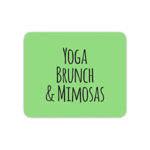 Yoga Brunch And Mimosas Mouse Mat