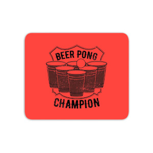 Beer Pong Champion Mouse Mat